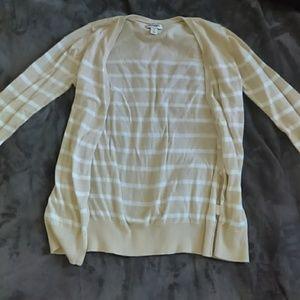 White/Cream Striped Sweater